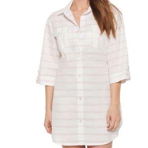 Dotti Radiance Stripe Shirt Cover-Up Dress